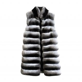 FurbySD Grey Chinchilla Fur Gilet