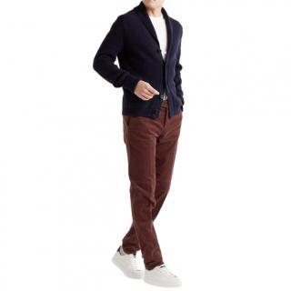 Loro Piana Pantaflat Burgundy Trousers