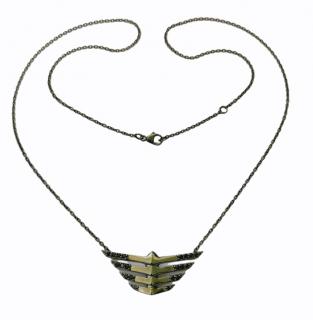Yunus & Eliza Hand Sculpted Rhodium Plated Sapphire Pendant Necklace