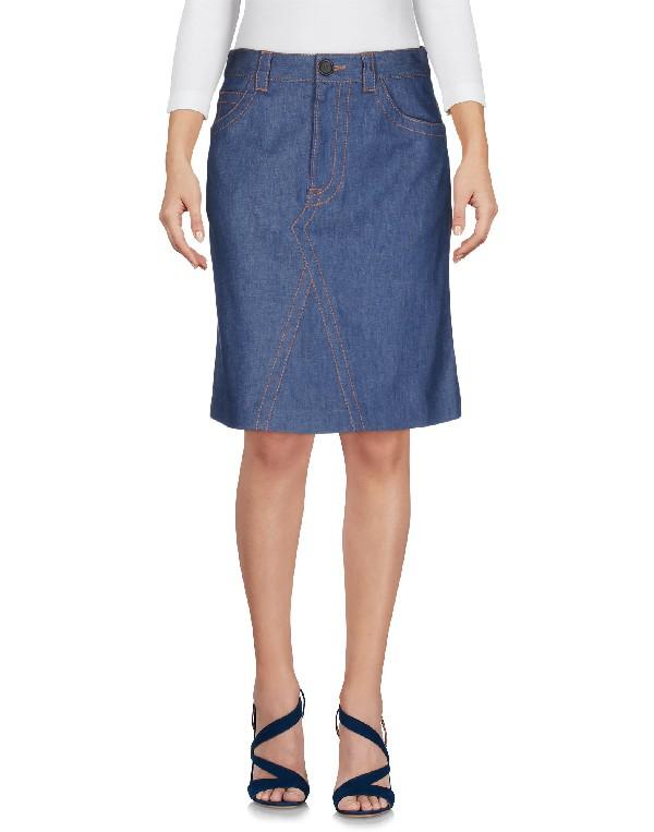 Prada Indigo A-Line Denim Skirt