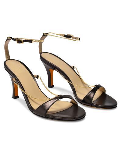 Maryam Nassir Zadeh Chain Detail Black Aurora Sandals