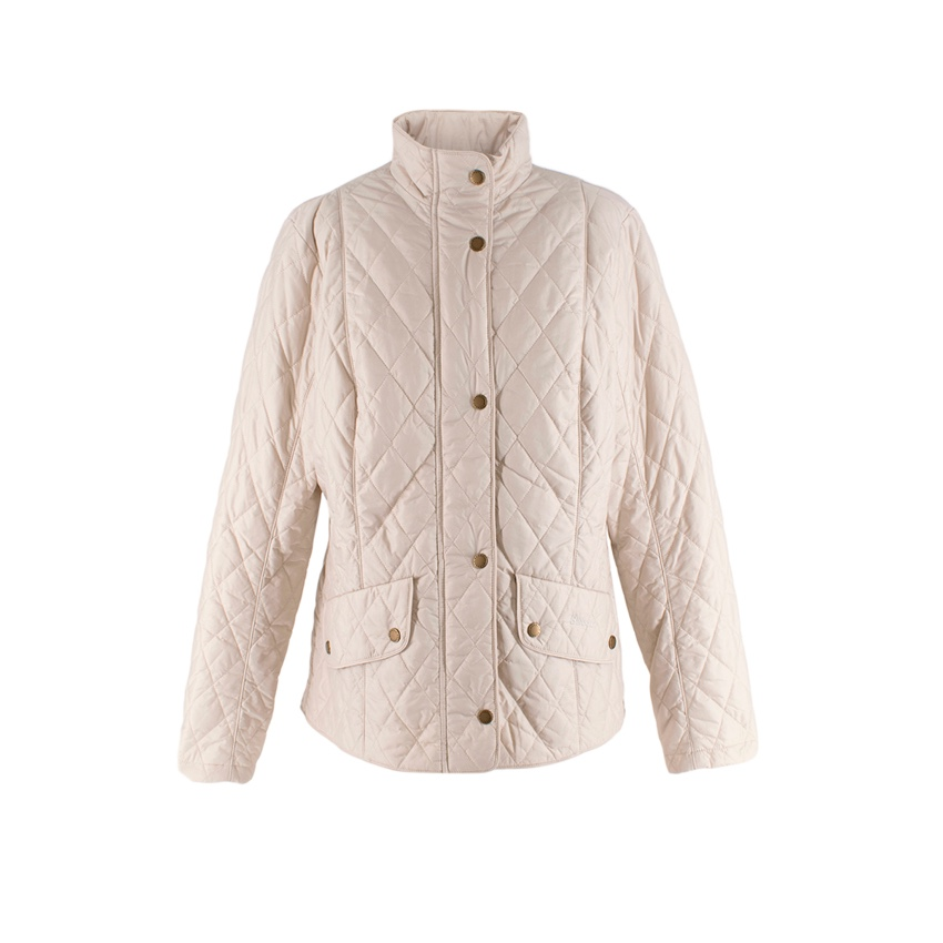 Barbour Flyweight Cavalry Quilted Pearl Jacket