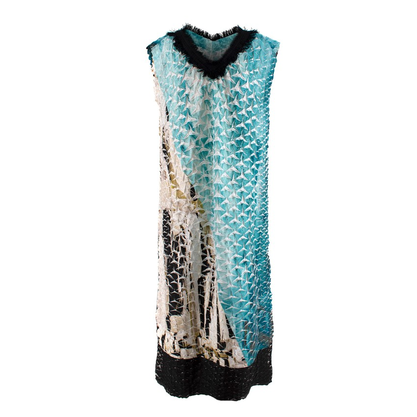 Issey Miyake Retrospect 1 Pleated Fringe Embellished Dress