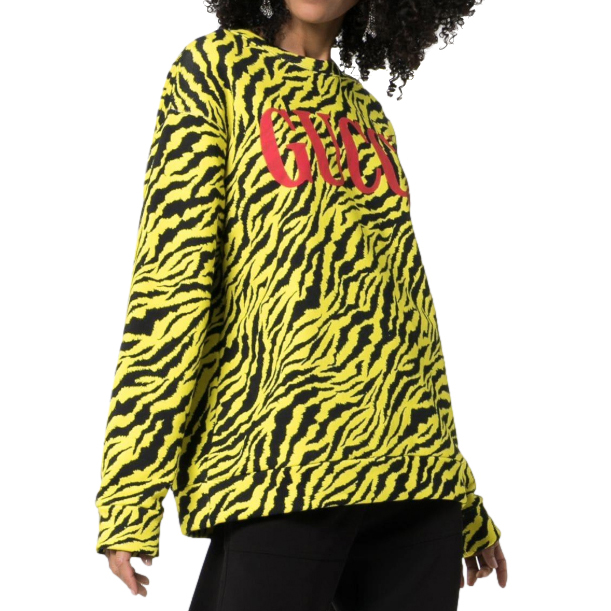 Gucci neon tiger stripe jumper