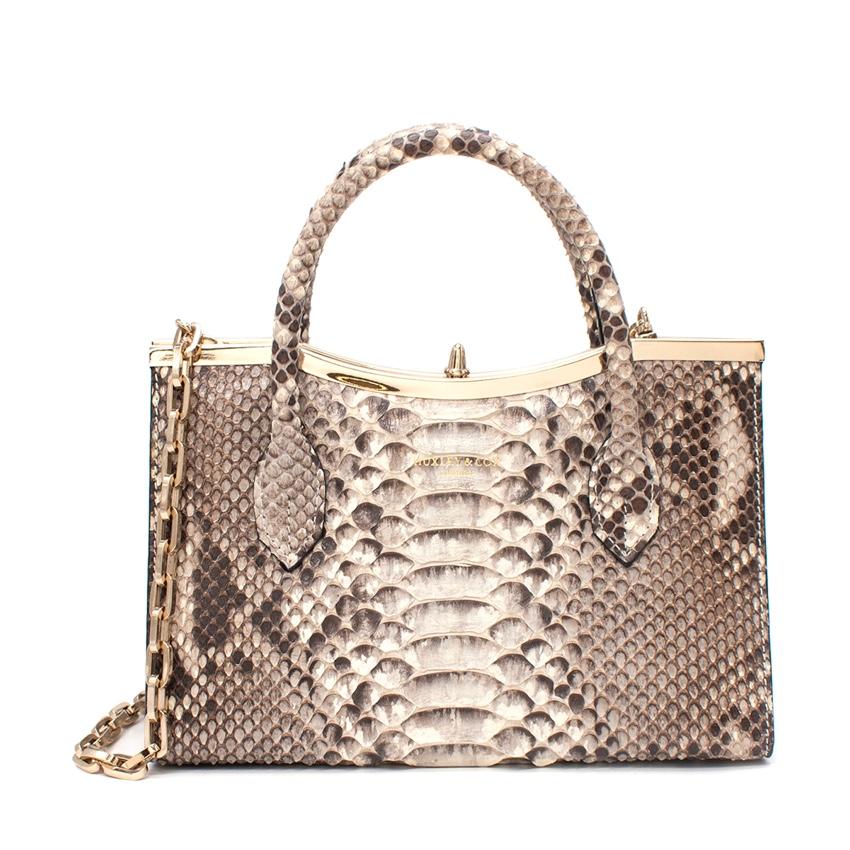 Huxley & Cox Python Top Handle Bag