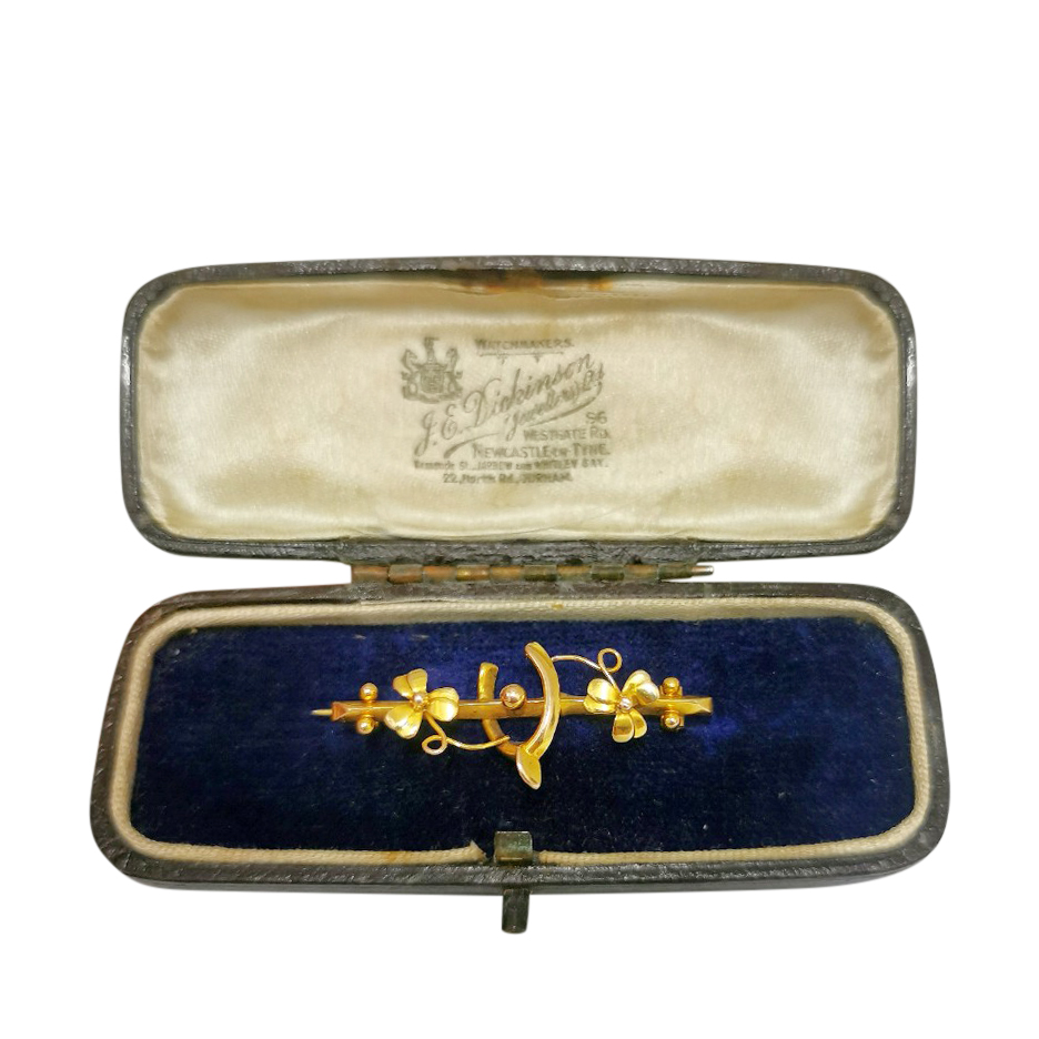 Bespoke Victorian yellow gold brooch