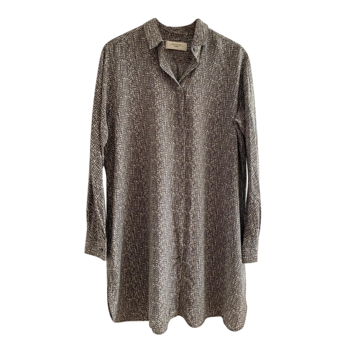 MaxMara Weekend long button through silk shirt