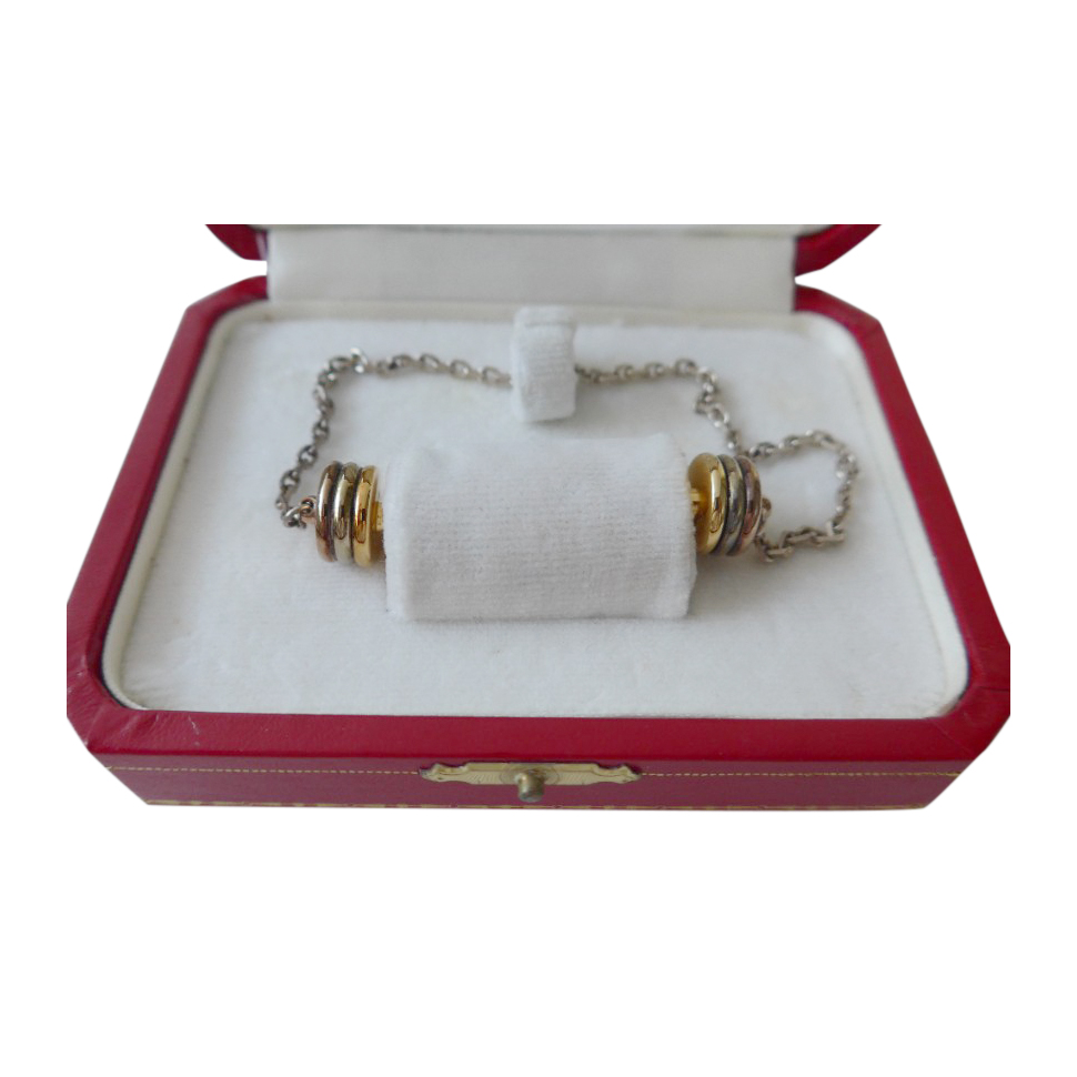 Cartier trinity collection silver cork chain