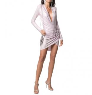 Alexandre Vauthier crystal-embellished draped mini dress