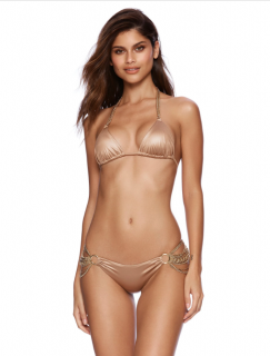Beach Bunny Gold Ball & Chain Bronze Bikini Set