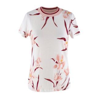 Zimmermann Ivory & Peach Floral-Print Jersey T-shirt