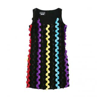 Boutique Moschino multicoloured frilled ribbon dress