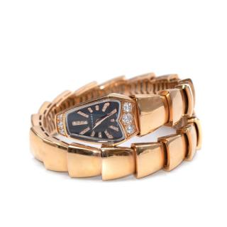 Bvlgari 18kt Rose Gold Diamond Serpenti Jewellery Watch