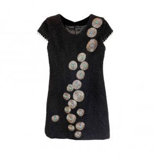 Chanel Vintage Embellished Boucle Shift Dress
