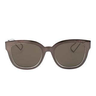Christian Dior Silver Mirrored Diorama Sunglasses