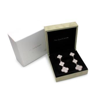 Van Cleef & Arpels Magic Alhambra White Gold & Diamond Earrings