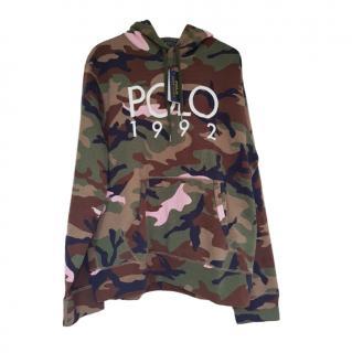 Polo Ralph Lauren Men's L Khaki & Pink Camo Hoodie