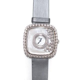 Chopard 18kt White Gold Happy Diamonds Square Limited Edition Watch