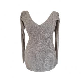 Max & Co Lurex Ribbed Knit Top