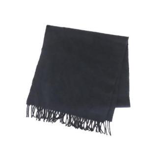Hermes Dark Blue Fringed Cashmere Scarf