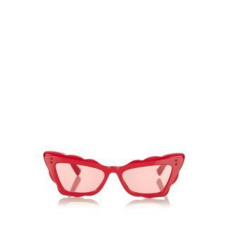 Valentino Red Cat Eye Tinted Sunglasses