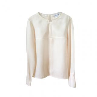 Chanel light salmon pink cloque long sleeved top