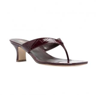 Paris Texas Portofino crocodile-effect leather sandals