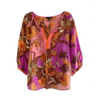 Tara Jarmon Multicoloured Printed Silk Tunic