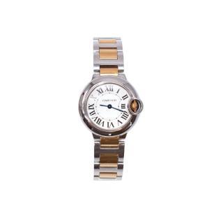 Cartier Steel & Rose Gold 28mm Ballon Bleu Watch