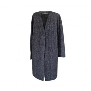 Max Mara Black Lurex Knit Cardigan