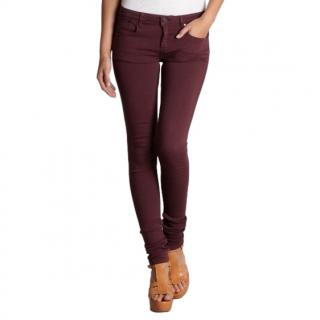 Victoria Beckham bordeaux power stretch skinny jeans