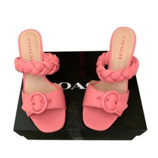 Coach Candy Pink Braided Mollie Sandals