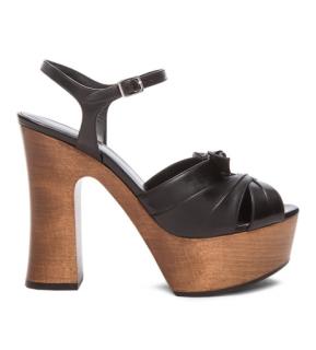 Saint Laurent Black Leather Candy Platform Sandals