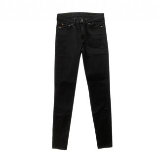 7 For All Mankind Black High Waist Skinny Jeans