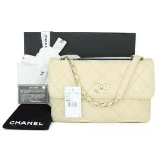 Chanel Beige Quilted Leather Trendy CC Chain Bag