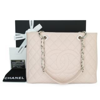 Chanel Blush Caviar Leather Grand Shopping Tote