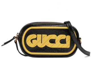 Gucci Distressed Patent Leather Game Crossbody Bag