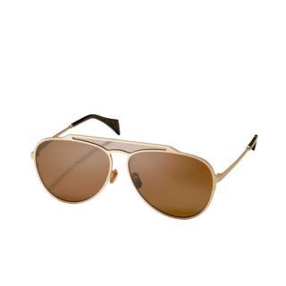 Yohji Yamamoto Double Bridge Mens Aviator Sunglasses