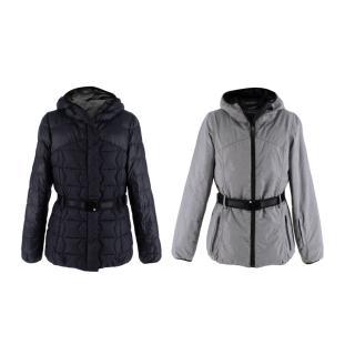 Sweaty Betty Reversible Black and Granite Grey Winter Ski Jacket