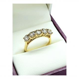 Bespoke 18ct Yellow Gold Diamond 5 Stone Ring