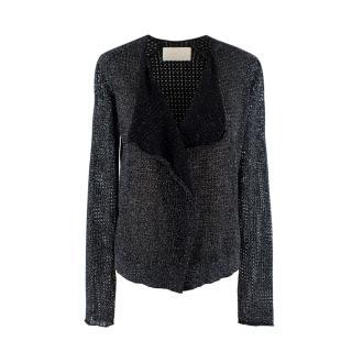 Zadig & Voltaire Black Lurex Knit Daphnee Cardigan
