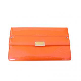 Jimmy Choo Orange Reese Clutch