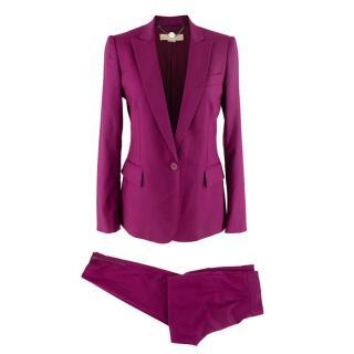 Stella McCartney Purple Wool Single Breasted Suit