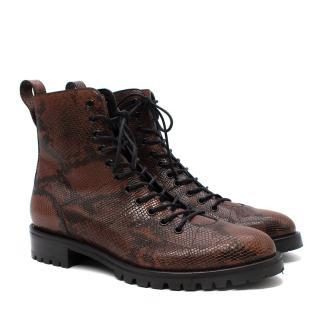 Jimmy Choo x Kaia Gerber K-Cruz Snakeskin Boots