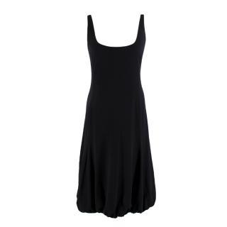 Armani Collezioni Black Puff Hem Sleeveless Dress