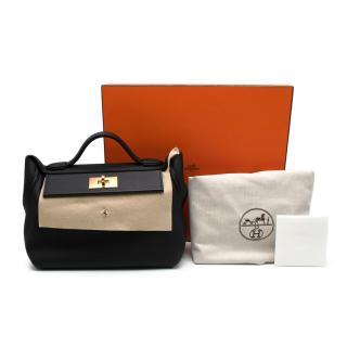 Hermes Black Togo Leather 24/24 Bag GHW