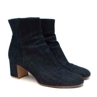 Gianvito Rossi Margaux Denim Ankle Boots