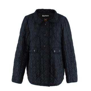 Barbour x Anya hindmarch Black Quilted Jacket