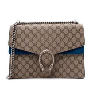Gucci Blue Dionysus GG Supreme Medium Shoulder Bag