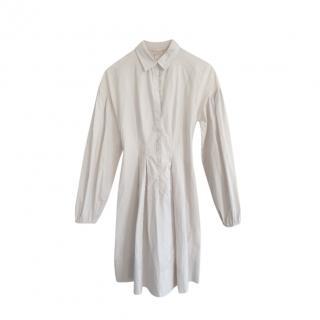 Giambattista Valli grey pleated shirt dress